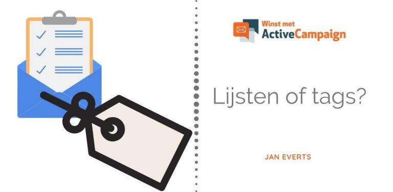 ActiveCampaign lijsten of tags