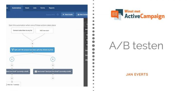 Activecampaign A/B test of splittest