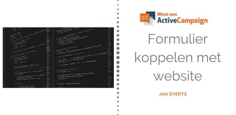 Hoe koppel je een ActiveCampaign opt-in formulier aan je website_